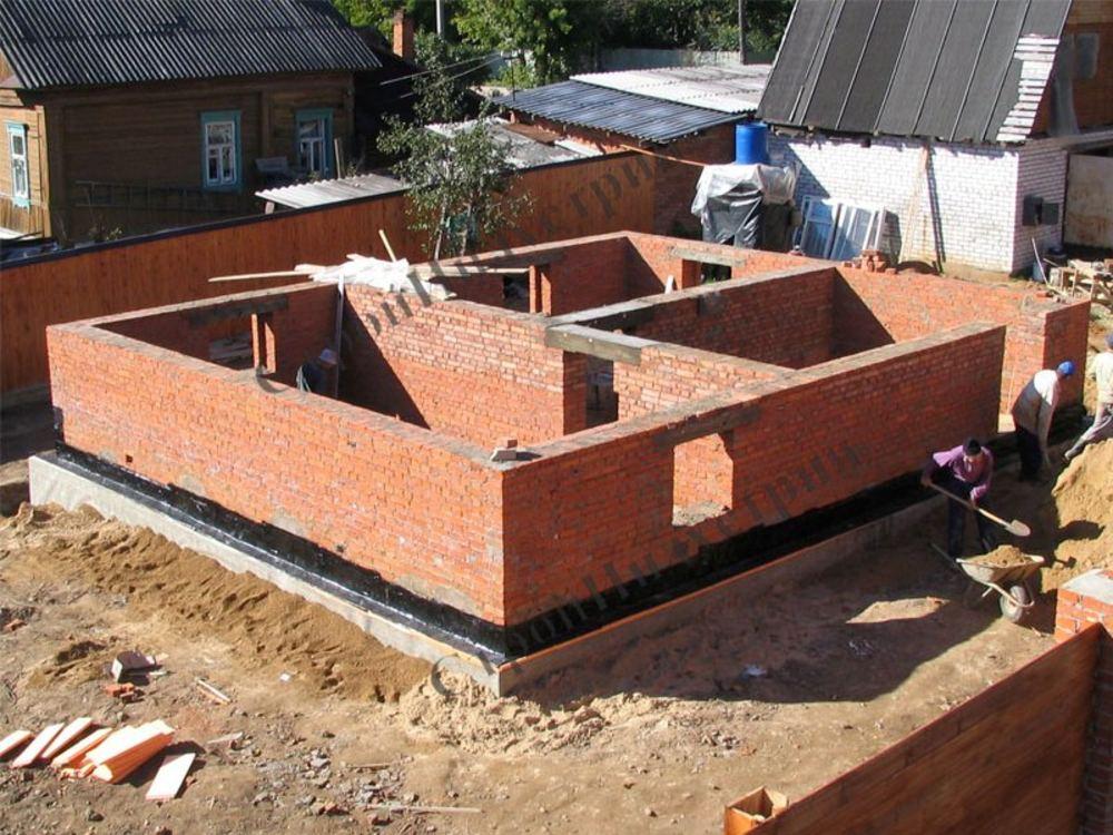 Построить дом кирпичный своими руками